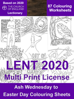 Lenten 2020 Colouring Posters - A4 Digital Files - Multi Print License