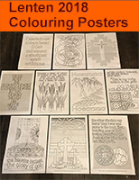 * Lenten Colouring Posters - Printed Version + Large Scale Digital Files (C) www.lindisfarne-scriptorium.co.uk 2017