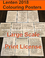 Lenten Colouring Posters - Large Scale Digital Files