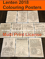 Lenten Colouring Posters - A4 Digital Files - Multi Print License (C) www.lindisfarne-scriptorium.co.uk 2017
