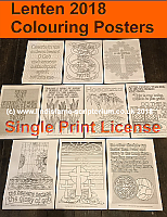Lenten Colouring Posters - A4 Digital Files - Single Print License (C) www.lindisfarne-scriptorium.co.uk 2017