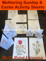 Mothering Sunday / Easter Colouring Activities - A4 Digital Files - Multi Print License
