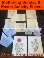 Mothering Sunday / Easter Colouring Activities - A4 Digital Files - Single Print License (C) www.lindisfarne-scriptorium.co.uk 2017
