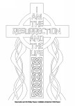 Easter Colouring Images - Resurrection and Life