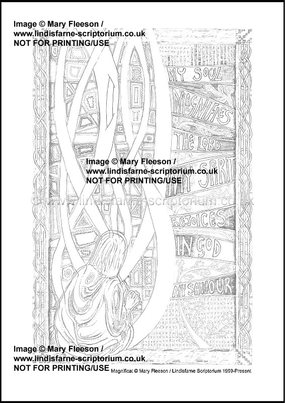 graphic relating to Printable Prayers known as Magnificat - Multicoloured Prayers - Downloadable / Printable - Colouring Sheet