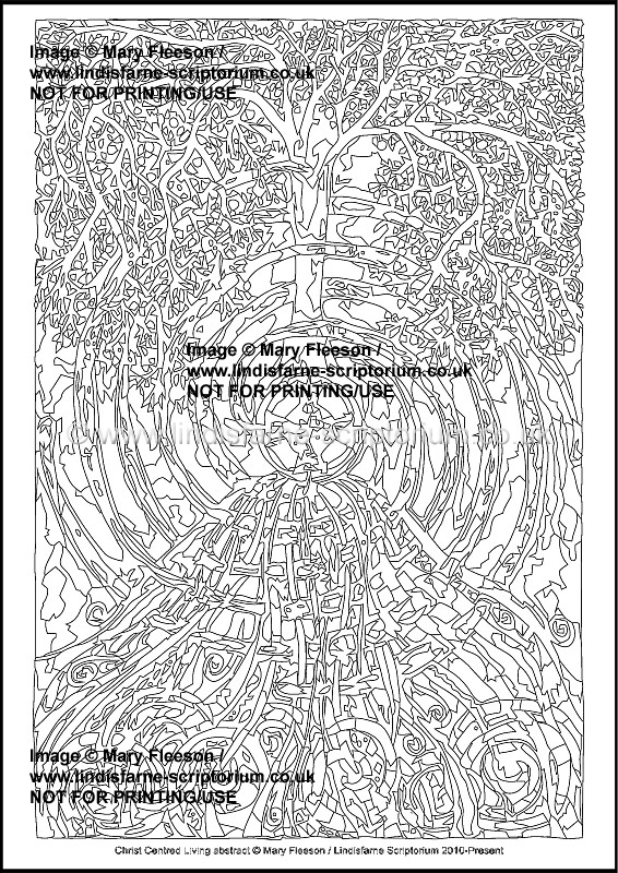 picture about The Living Christ Printable identified as Christ Centred Residing Summary - Multicoloured Reflections - Downloadable / Printable - Colouring Sheet