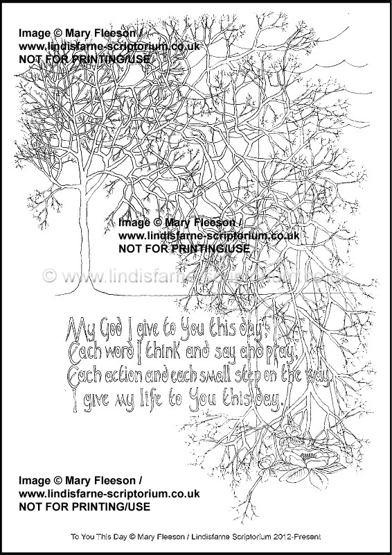image relating to Printable Devotions known as In direction of By yourself This Working day - Multicoloured Devotions - Downloadable / Printable - Colouring Sheet